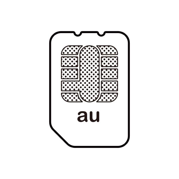 au回線のSIMカードイメージ