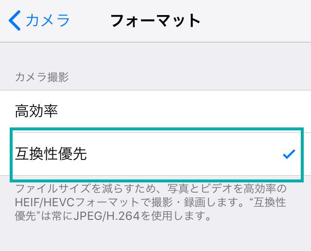 iPhoneの設定画面キャプチャ3