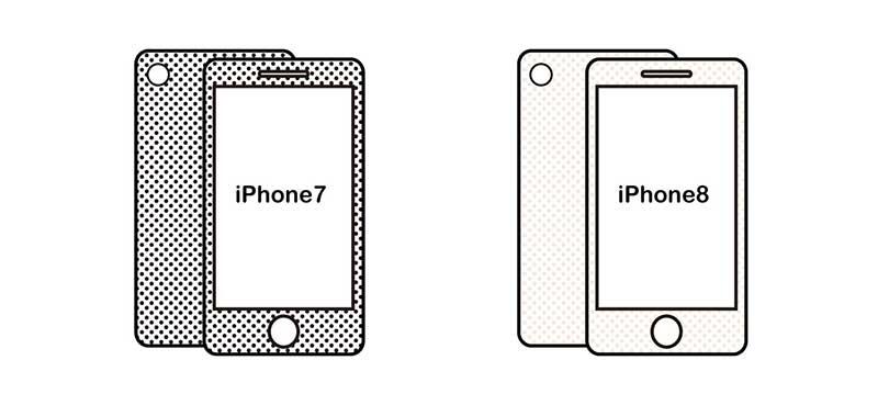 iPhone7とiPhone8の比較
