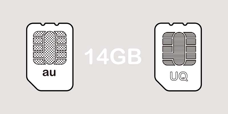 auとUQモバイル14GBプランでの比較