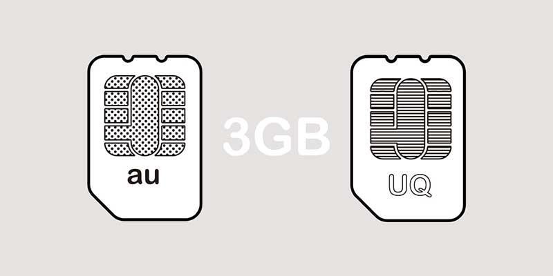 auとUQモバイル3GBプランで比較