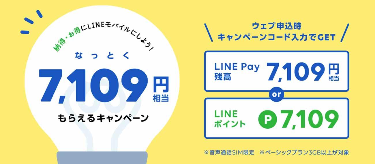 LINEモバイルポイントバックキャンペーン2020年3月