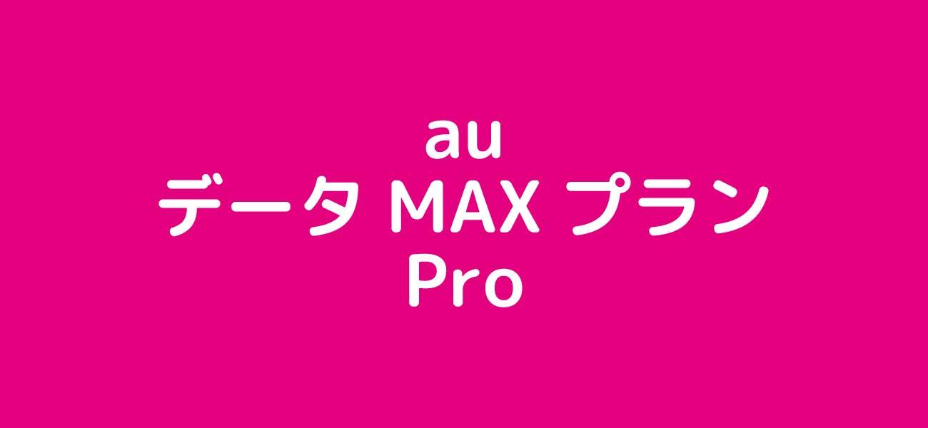auデータMax Proのイメージ
