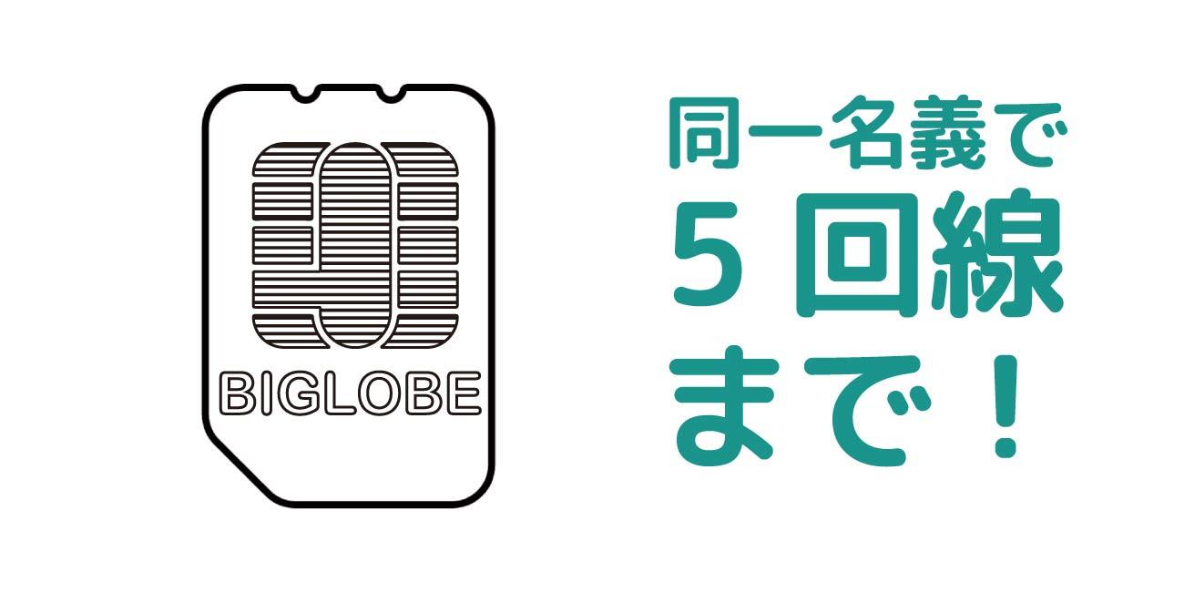 BIGLOBEモバイルの回線契約上限
