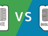 LINEモバイルとBIGLOBEモバイルの比較イメージ