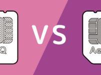 UQモバイルとイオンモバイルの比較イメージ