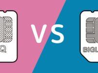 UQモバイルとBIGLOBEモバイルの比較イメージ