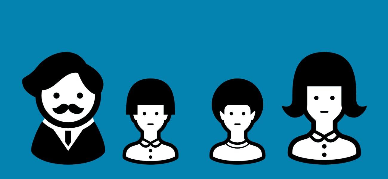 BIGLOBEモバイルの家族割イメージ