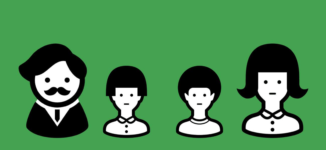 LINEモバイル家族割のイメージ